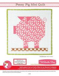 Penny Pig Downloadable PDF Mini Quilt PatternBee in my Bonnet ... & Why not celebrate these cute critters with our Penny Pig Mini Quilt Pattern  from Available now in our online store. by fatquartershop Adamdwight.com
