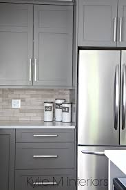 kitchen cabinets paitned benjamin moore amherst gray driftwood marble backsplash with stainless steel design