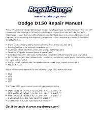 dodge d150 repair manual 1990 1993