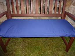 navy blue bench. Garden Furniture Cushions - Navy Blue 2 Seater Bench Cushion 116x48x6