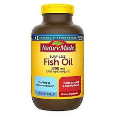 <b>Nature</b> Made 1200mg <b>Odorless</b> Fish Oil Softgels w/ 360mg <b>Omega</b> ...