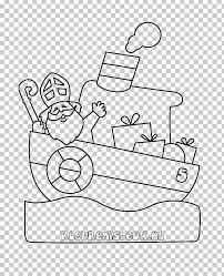 Pakjesboot 12 Kleurplaat Sinterklaas Drawing Steamboat Png Clipart