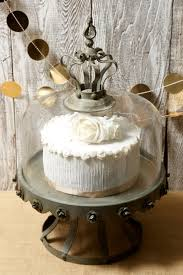 Decorative Cake Stands Dome Covered Zinc Rustic Cake Stand 13in