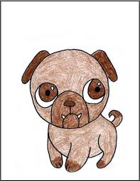 cute pug drawing. Perfect Drawing Cute Dog Drawing In Cute Pug Drawing G