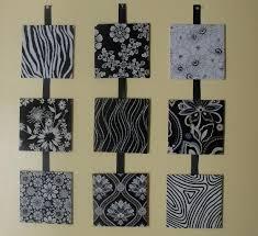 panel wall art using stretch fabric