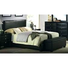 ireland queen faux leather bed black queen faux leather bed black platform bedroom set in acme