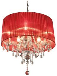 red toile chandelier lamp shades modern mini light bulbs