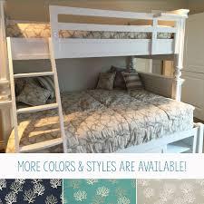 beach house nautical bunk bed bedding