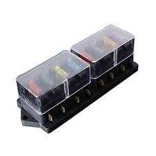 fuse block w6 12 24v universal car truck 8 way circuit standard blade fuse box holder block
