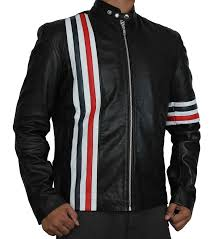 red and white stripe jacket
