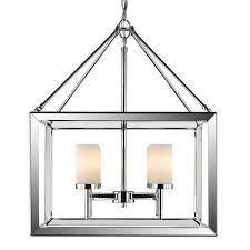 golden lighting s smyth 4 light chandelier chrome opal glass 2074 4 ch op