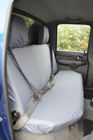 tailored grey rear bench seat cover for