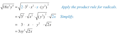 make these substitutions and then apply the rule for radicals and simplify