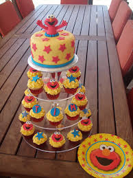Elmo Cupcake Cake Walmart Ideas Stand Cupcakes Diy Birthday Party