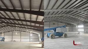 steel beams interior painting