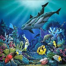 environmental artist apollo artwork illumination original painting acrylic sea life art