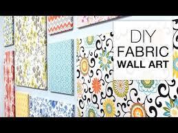 how to make fabric wall art easy diy
