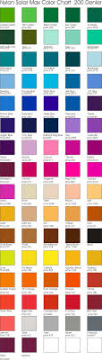 Color Chart For Clothes Fabric Color Chart