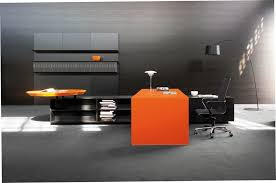office orange. Office Interior Design Inspiration With The Natural View: Immagini 125 Orange