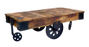 Mill Cart Coffee Table Industrial Cart Coffee Table Dipinto
