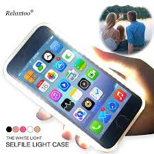 Light Up Selfie Phone Case Iphone 5c Us 8 79 20 Off Glowing Phone Case For Apple Iphone 7 8 6 6s Plus X Flash Selfie Light Up Glowing Case Cover For Iphone 5 5s Se Coque Capa Funda In