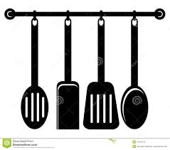 kitchen utensil clipart black and white. Beautiful Black Kitchen Utensils For Utensil Clipart Black And White E