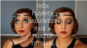 1920s flapper hair makeup tutorial