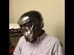 chrome skull novelty motorcycle helmet youtube