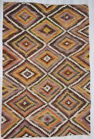 handwoven vintage colourful decorative turkish kilim area rug