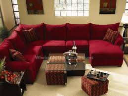 diggin the red sectional and the coffee table with the pull out ottomans fletcher red sectional sofa