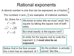 3 rational exponents