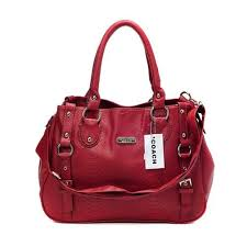 Coach Embossed Logo Medium Red Totes DGB