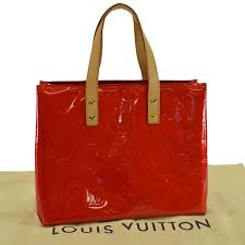 brandvalue louis vuitton louis vuitton handbag monogram ヴェルニリード pm rouge red patent leather tote bag lady s m91088 r6465 rakuten global market