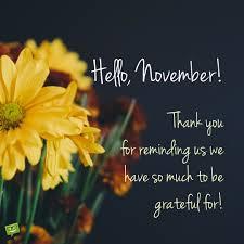 Hello November Quotes And Sayings