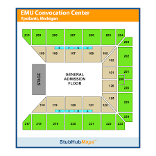Eastern Michigan University Convocation Center Seating Chart Emu Convocation Center Events And Concerts In Ypsilanti