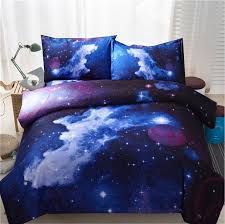 whole 3d galaxy bedding sets twin queen size universe outer space themed bedspread bed linen bed sheets duvet cover set luxury bedding