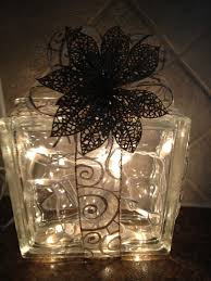 merry illuminated glass block decor glass block decorations