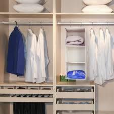 white clothes closet organizer