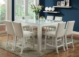 counter height dining table soho espresso and glass modern