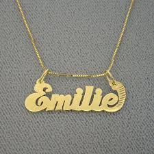 details about junior size solid 14k gold personalized name necklace pendant jewelry bp01