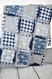 nursery baby bedding baby boy rag quilt