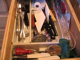 Kitchen Drawer Orderly Places Kitchen Drawer Before