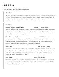 Bartender Resume Examples Extraordinary Bartender Resumes Templates Sample Resume Examples Template