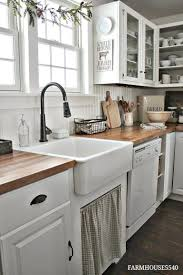 white country kitchen with butcher block. Beautiful Country Farmhouse Style Kitchen On White Country With Butcher Block H