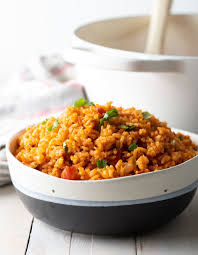 Add rice to pan, and stir to coat grains with oil. 4 Ingredient Spanish Rice Recipe Video A Spicy Perspective