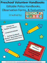 Develop You Own Student Volunteer Evaluations. | Preschool Plan It