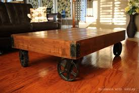 Mill Cart Coffee Table Diy Industrial Factory Cart Coffee Table Plans By Rogue Engineer