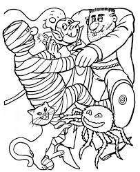 Small Picture Halloween Monster Coloring Page Halloween coloring pages 25479