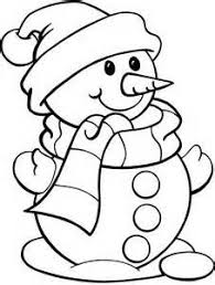 Small Picture simple snowman coloring pages Printable Christmas Coloring Pages
