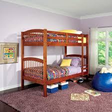 warm oak twin over twin bunk bed